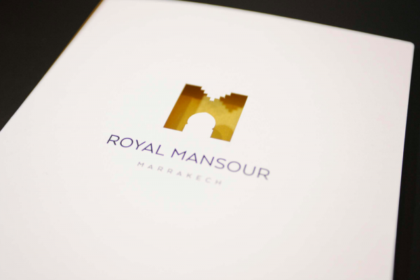 hotellerie brochure edition royal mansour victor paris agence communication luxe