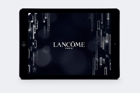 parfum lancôme application iPad retail victor paris agence communication luxe