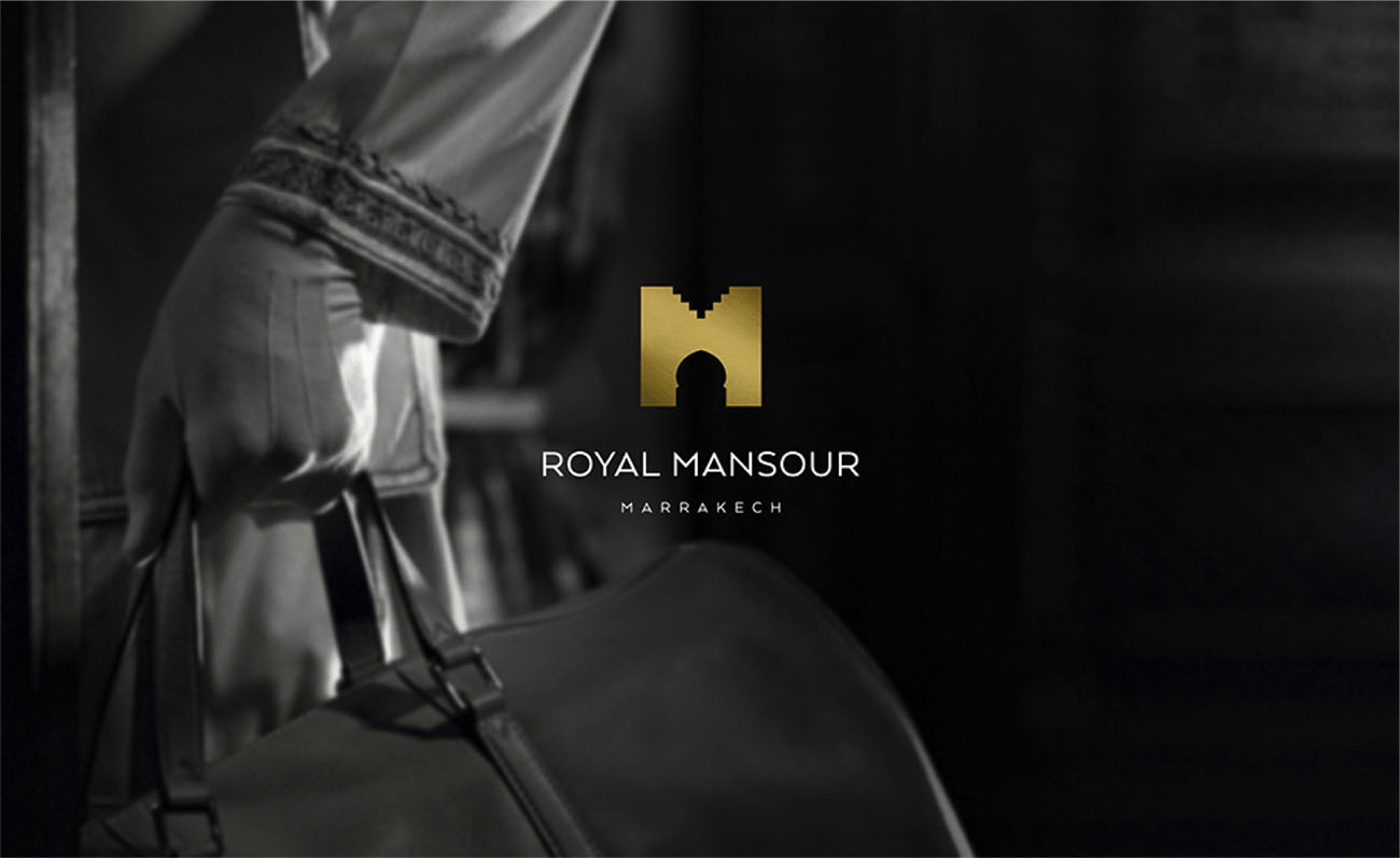 hotellerie identite logo royal mansour victor paris agence communication luxe