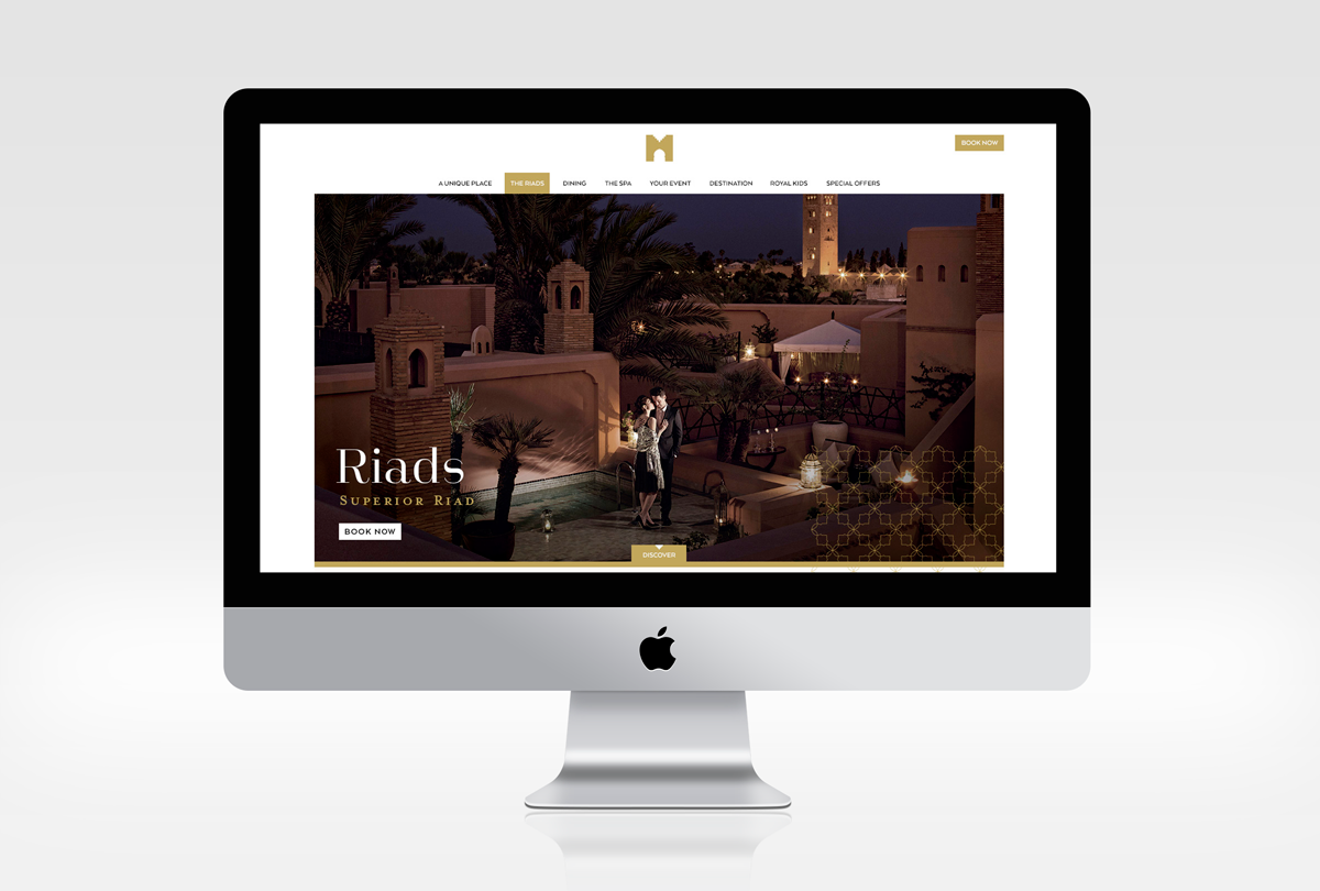 design site web royal mansour victor paris agence communication luxe